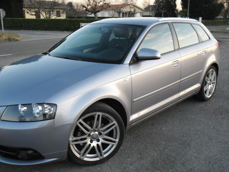 audi a3 sportback 140 cv s line d 39 occasion berline diesel de 2008 en vente bergerac annonce. Black Bedroom Furniture Sets. Home Design Ideas