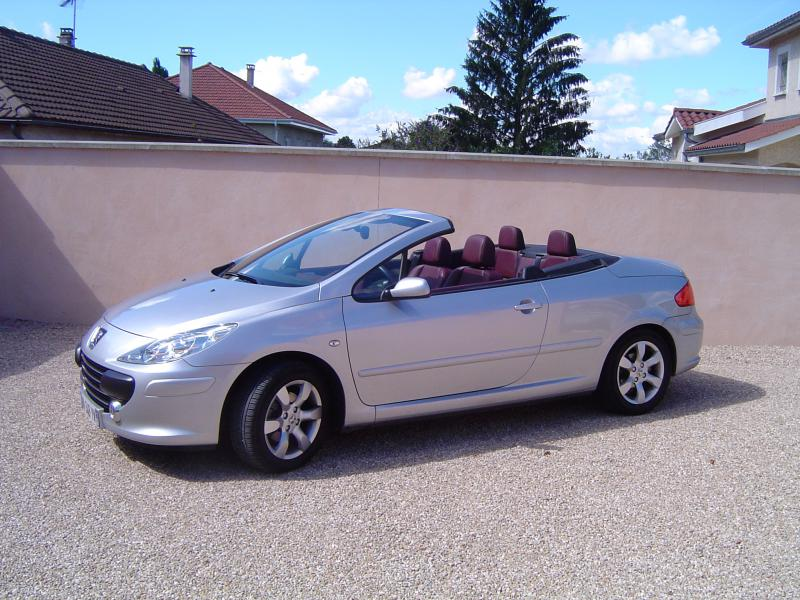 peugeot 307 cc 1 6l 16v sport d 39 occasion cabriolet essence de 2007 en vente aureilhan. Black Bedroom Furniture Sets. Home Design Ideas